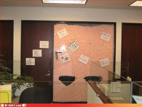boredom cubicle boredom cubicle prank cubicle rage dickhead co-workers prank sass sneaky wiseass - 3135875840