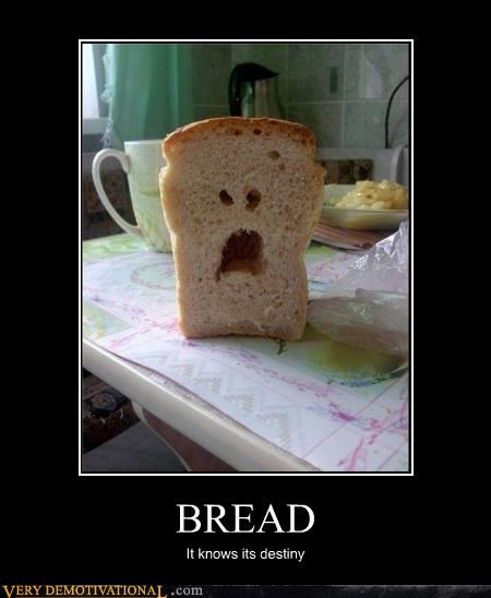 Sad,face,bread