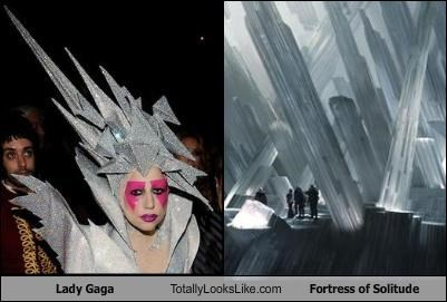 fortress of solitude,hat,headdress,lady gaga,superman