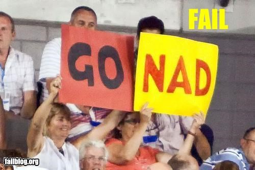 Nadal Fans Fail Dubious choice of signs seen at the Australian Open for Rafael Nadal