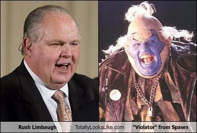 comics,movies,Rush Limbaugh,Spawn,violator