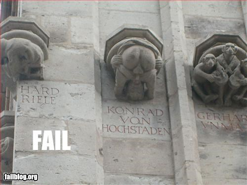 butt cathedral gargoyle sculpture stone - 3138672896