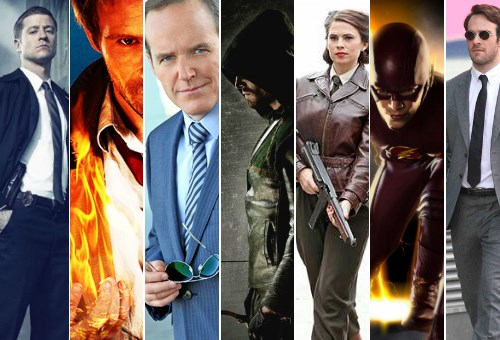 arrow list TV superheroes the flash agents of shield
