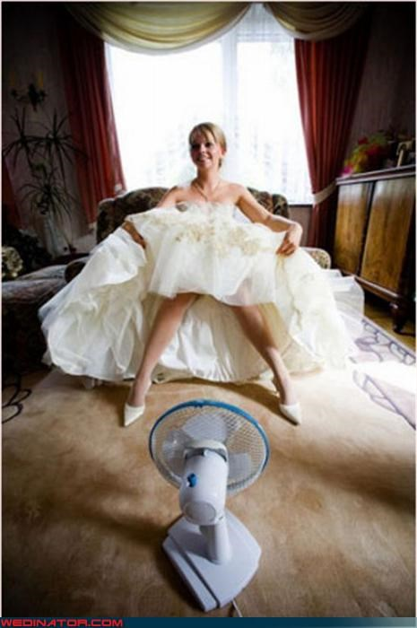 cooling off Crazy Brides crinoline fan fashion is my passion marilyn monroe surprise upskirt Wedding Dress Flashing - 3143944448
