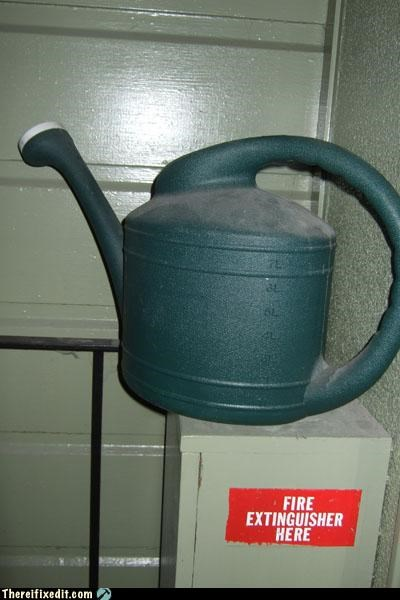 fire safety,gardening,watering can