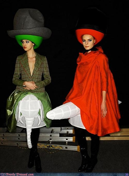 girdles,hats and hatlike objects,High Fashion,mysterious