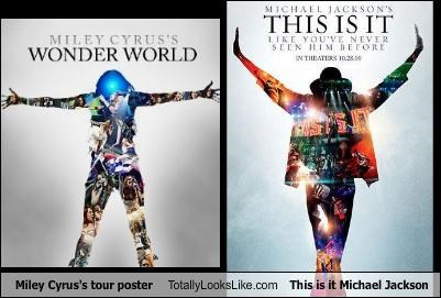 michael jackson miley cyrus posters singers tour - 3149577472