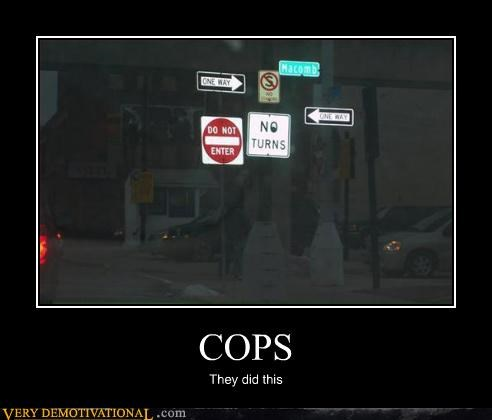 cops signs traffic - 3150481152