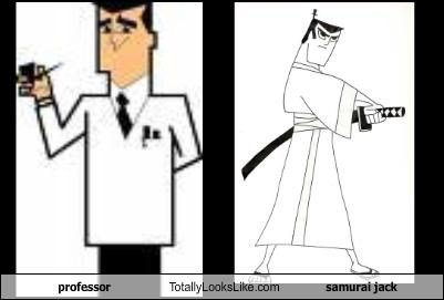 professor utonium,samurai jack,the powerpuff girls