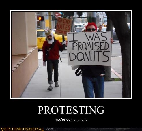 sign,donuts,Protest