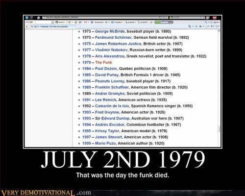 July 2nd 1979 Sad The Day Funk Died Vladimir Nabokov - 3152318720