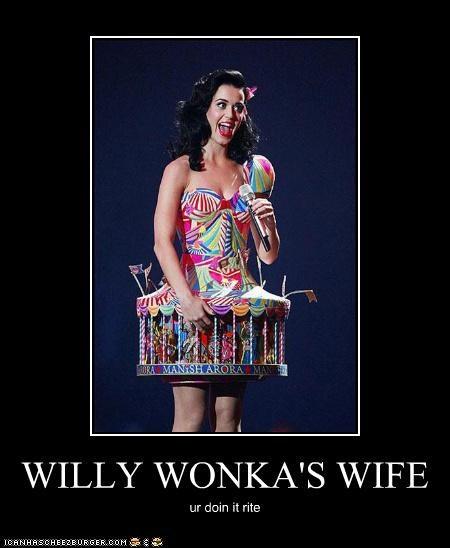 costume crazy katy perry Willy Wonka - 3154349824