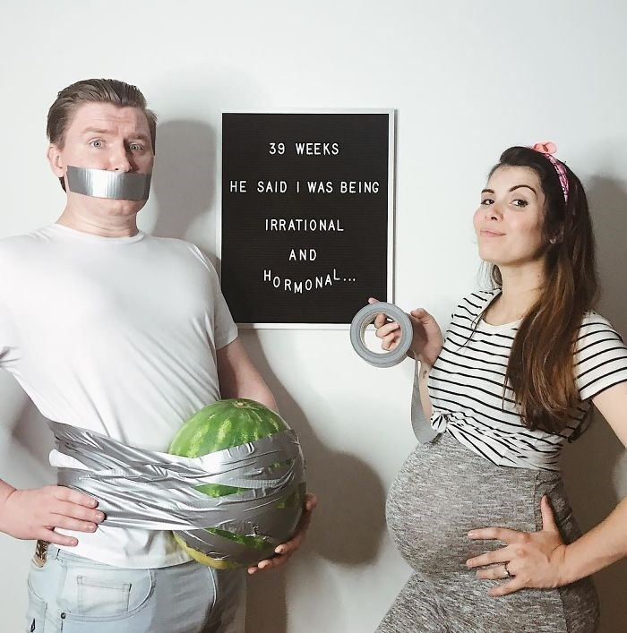 honest photos of being pregnant