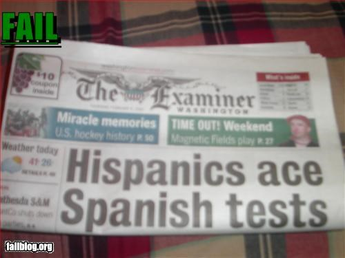 g rated headline hispanics newspaper spanish test - 3155712768