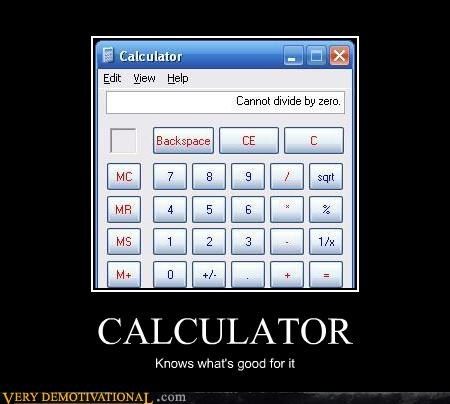 divide by zero,calculator