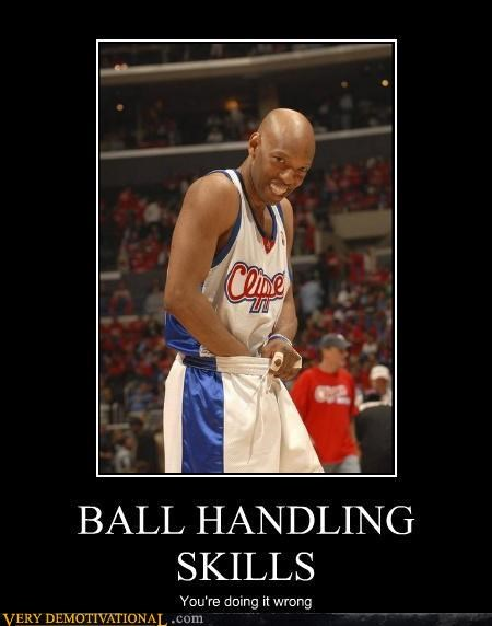 ball handling,basketball,clippers,hilarious,sports,ur doing it rong,your doing it wrong