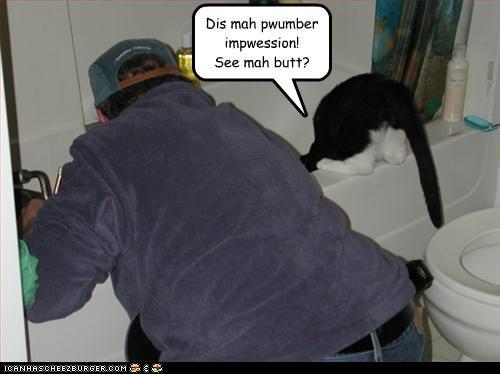 bathroom bathtub butt look a like plumber - 3158053888
