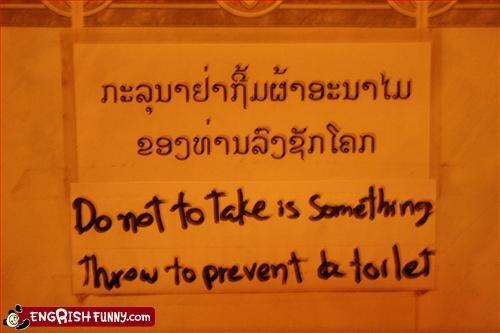 bathroom,do not,g rated,prevent,signs,throw,toilet