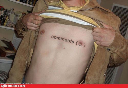 comedy tats,Internet phenomena,piercings,words