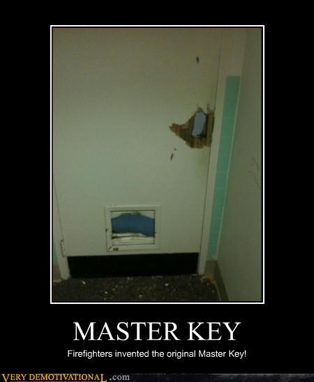 MASTER KEY Firefighters invented the original Master Key!