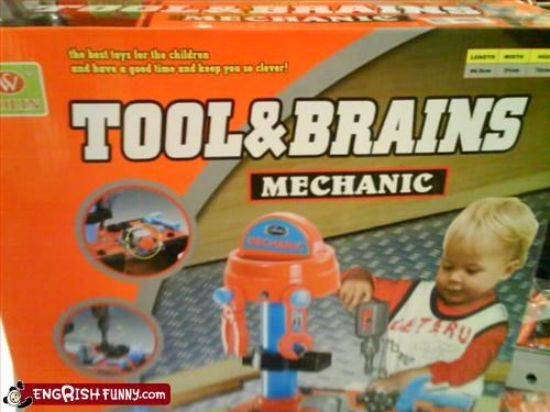 Tool and Brains For the aspiring little Jigsaw in the family.