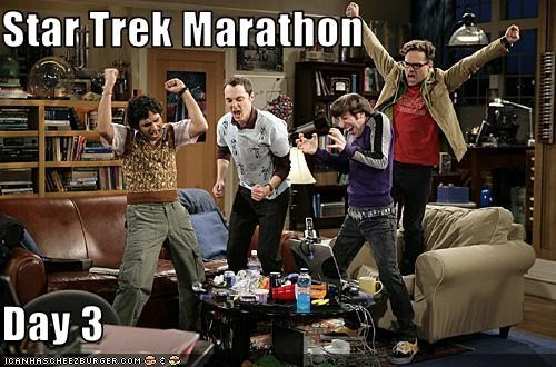 big bang theory cast geeks marathons nerds sci fi Star Trek - 3160896000