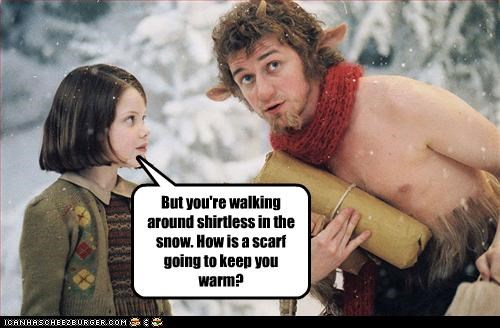chronicles of narnia,georgie henley,james mcavoy,scarf