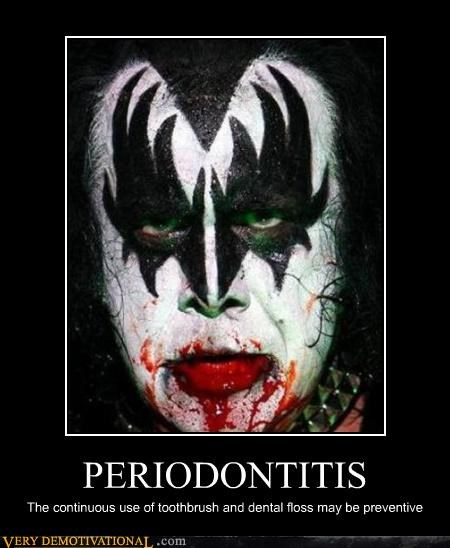 PERIODONTITIS The continuous use of toothbrush and dental floss may be preventive
