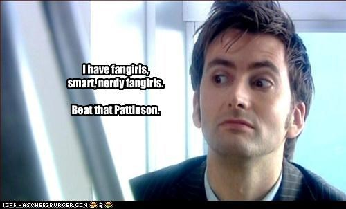 David Tennant,doctor who,fangirls,robert pattinson,sci fi