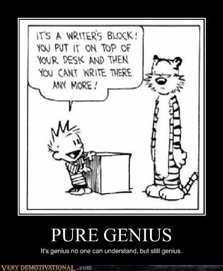 writers block,calvin and hobbes