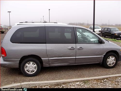 duct tape,minivan,protection,uniform