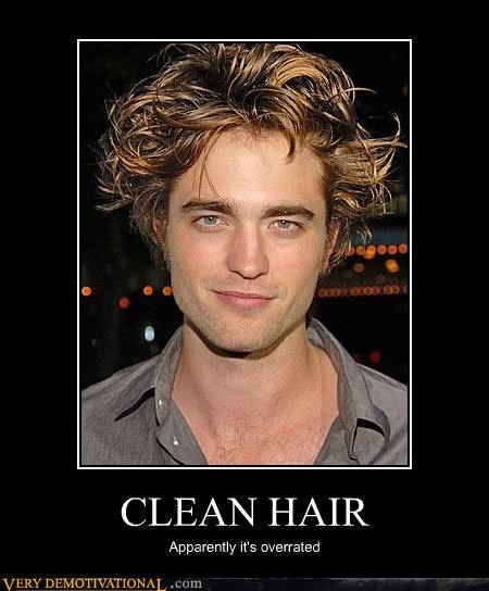 CLEAN HAIR Apparently it's overrated
