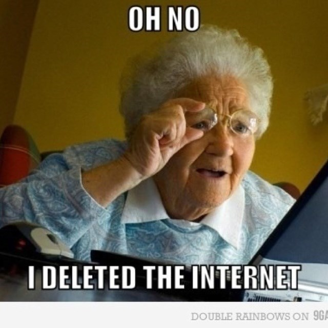 Funny grandparents trying to use technology