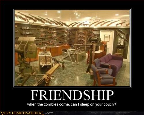 awesome couch friendship guns Pure Awesome sleep zombie - 3169555456
