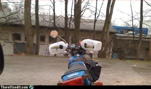 milk jug,motorcycle,recycling-is-good-right,weather protection