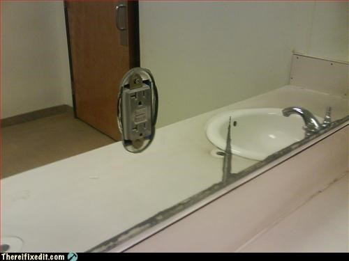 electrical hazard,how,mirror,socket