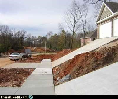 driveway,new home,Professional At Work,steep angle