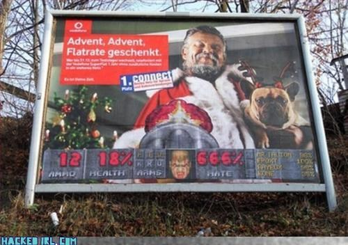 billboard doom video game Xmas - 3170708992