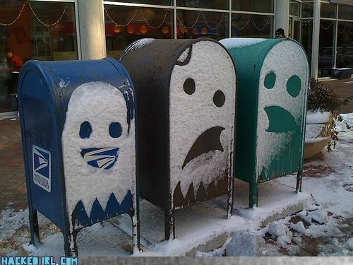 ghost,mailbox,snow,video games