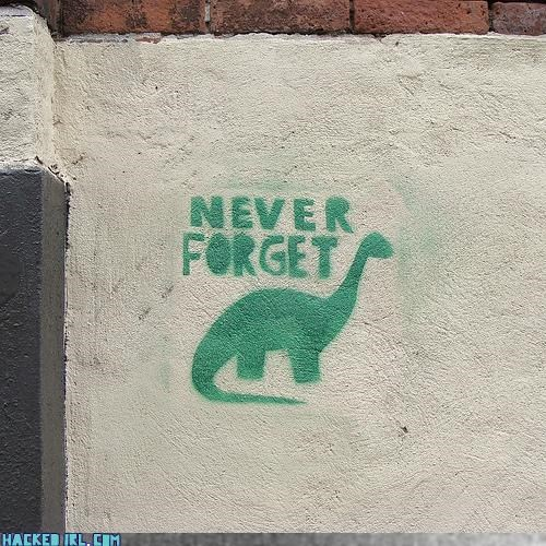 concrete wall,dinosaur,remember