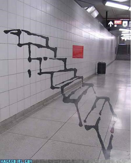 optical illusion stairway Subway - 3170953728