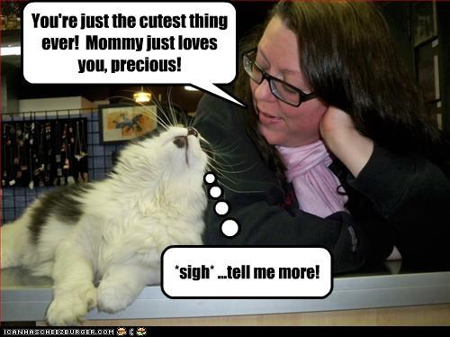 cat compliment cutest thing ever mommy - 3171936512