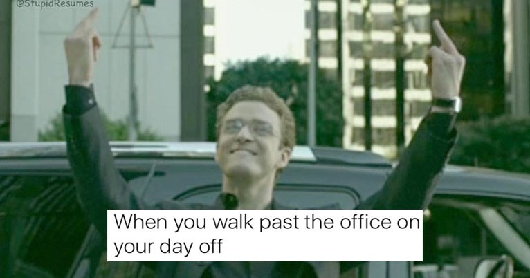 Collection of funny memes about work, jobs, bosses, coworkers, life, employment.