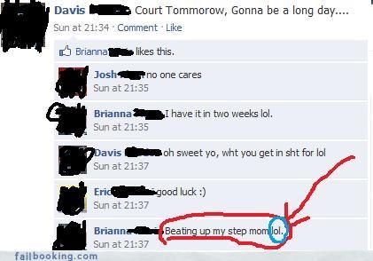 awkward laughs bad idea court step parents