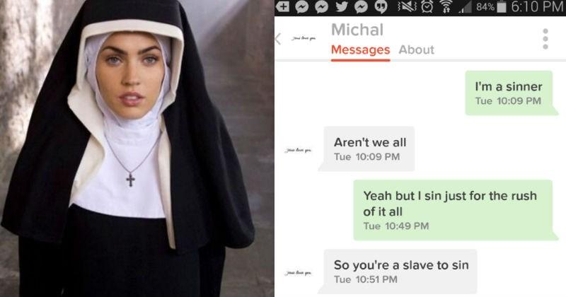 religion annoying trolling tinder cringe Awkward conversation dating - 3174917