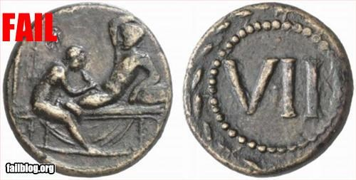 amazing ancient archeology coin hilarious sexy times - 3175175680