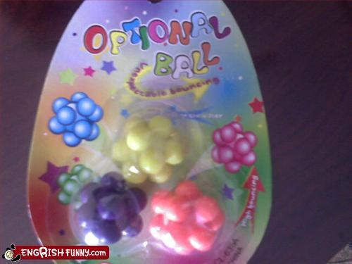 balls,g rated,optional,toys