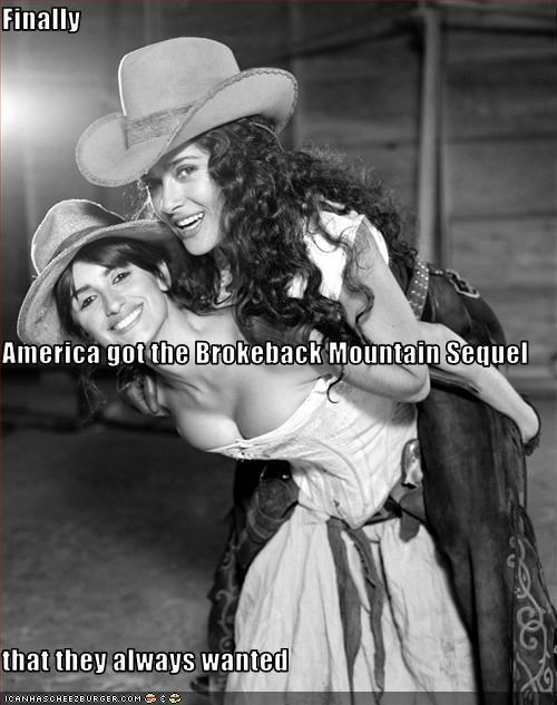 brokeback mountain lesbians penelope cruz salma hayek - 3175724544
