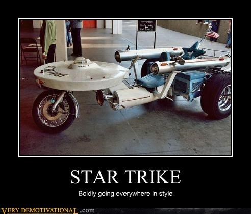 USS Enterprise trike Star Trek - 3176607744