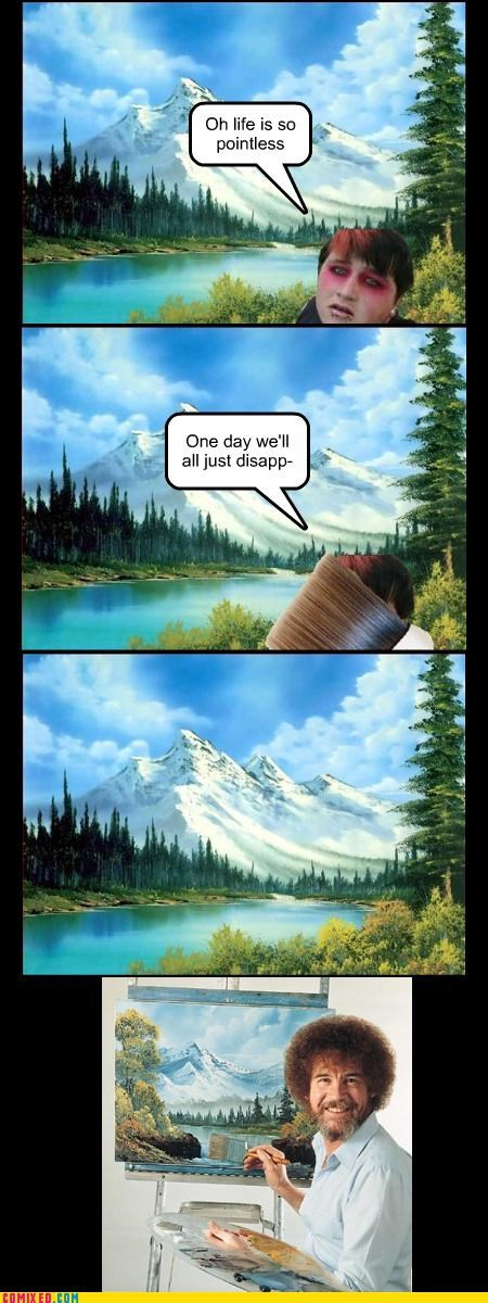 bob ross fat emo painting the internets - 3176848128